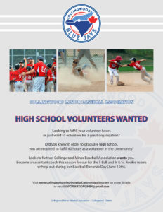 high school volunteers wanted